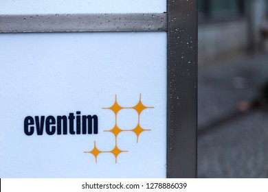 berlin, berlin/germany - 23 12 18: eventim sign in berlin germany