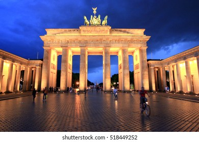 Berlin Brandenburg Gate at dusk