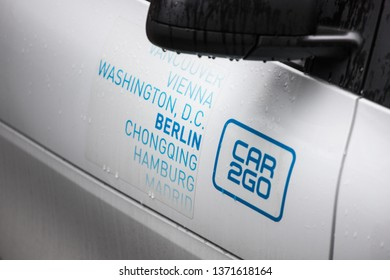 berlin, brandenburg/germany - 14 03 19: car2go in berlin germany