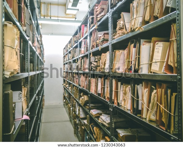 Berlin, Brandenburg/Germany - September 19, 2016, Stasi (Ministry for State Security of  German Democratic Republic) Records Archive in  The Agency of the Federal Commissioner for the Stasi Records