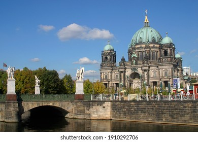 Berlin Cathedral or Berliner Dom at the banks of River Spree in Berlin, Germany, Europe.