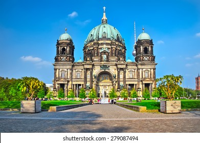 Berlin Cathedral (Berliner Dom) famous landmark in Berlin City, Germany