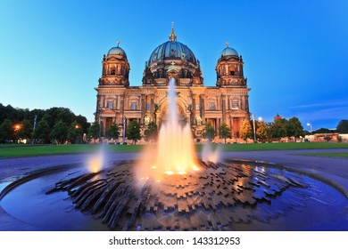 Berlin Cathedral or Berliner Dom at night, Berlin, Germany