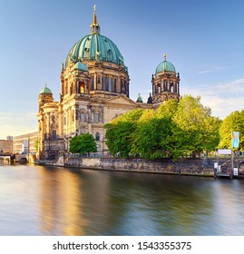 Berlin Cathedral (Berliner Dom) reflected in Spree River, Germany - Shutterstock ID 1543355375