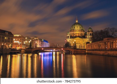 Berlin Cathedral , Berliner Dome at night, Berlin ,Germany