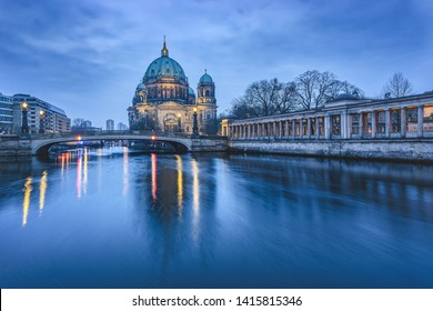 Berlin Cathedral in the blue hour