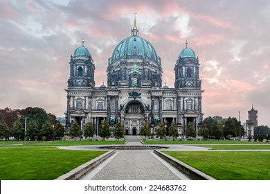 Berlin Cathedral at sunrise, German Berliner Dom on Museum Island, Berlin, Germany