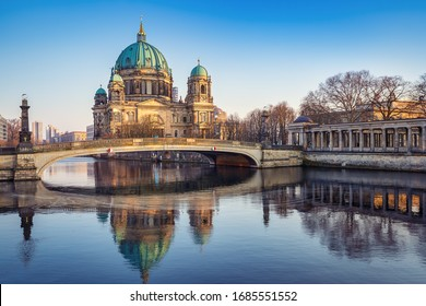 the berlin cathedral while sunset, germany