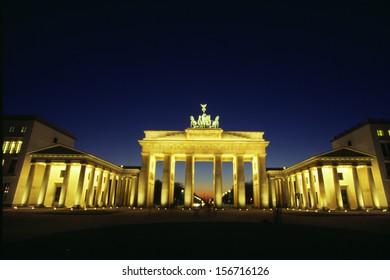 BERLIN - CIRCA OCTOBER 2003: the Brandenburg Gate in Berlin.