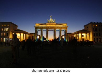 BERLIN - CIRCA OCTOBER 2011: the Brandenburg Gate (Brandenburger Tor), Pariser Platz, Berlin.