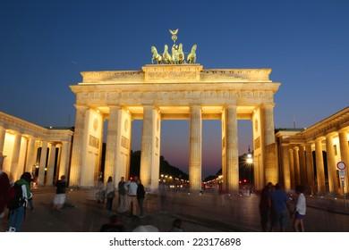 BERLIN - CIRCA SEPTEMBER 2014: the Brandenburg Gate (Brandenburger Tor), Pariser Platz, Berlin.