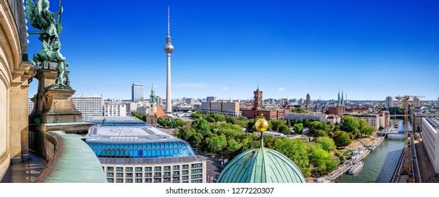 berlin city center on a sunny day