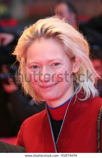 BERLIN - FEBRUARY 11: Actress Tilda Swinton arrives at the 'Thumbsucker' premiere during the 55th annual Berlinale International Film Festival on February 11, 2005 in Berlin, Germany