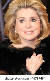 BERLIN - FEBRUARY 15: Actress Catherine Deneuve attends the Annual Cinema For Peace Gala during  of the 60th Berlin  Film Festival at the Konzerthaus on February 15, 2010 in Berlin, Germany.