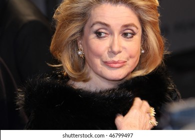 BERLIN - FEBRUARY 15: Actress Catherine Deneuve attends the Annual Cinema For Peace Gala during day five of the 60th Berlin  Film Festival at the Konzerthaus  on February 15, 2010 in Berlin, Germany.