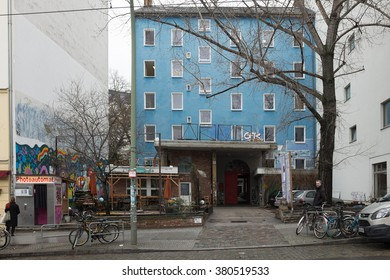 "BERLIN, FEBRUARY 22:  The ""Acud theatre"" building in the Invalidenstrasse in Berlin Mitte on February 22, 2016. The ACUD is an arts and cultural center in Berlin-Mitte."