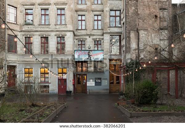 Berlin February 24 Clarchens Ballhaus Auguststrasse Stock