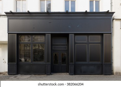 BERLIN, FEBRUARY 24: Empty store shop front facade in Friedrichstrasse in Berlin on February 24, 2016.