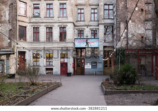 Berlin February 28 Clarchens Ballhaus Auguststrasse Stock
