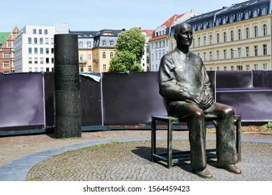 berlin, germany - 05.05.2010 - monument of Bertolt Brecht in berlin mitte