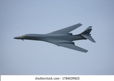 Berlin, Berlin, Germany - 05.29.2008 : A B1b lancer bomber aircraft from the United Staates Air Force performe a fly by at ILA 2008