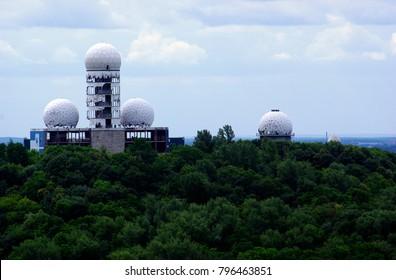 BERLIN, GERMANY - 06 19 2011: Teufelsberg, former US listening post, Berlin-Grunewald