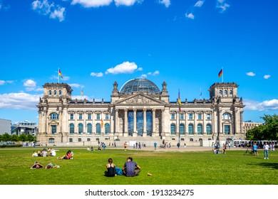Berlin, Berlin, Germany - 07.03.2018: Reichstag Parliament