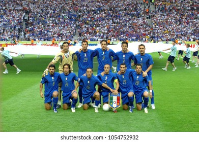 Berlin Germany, 07/09/2006: FIFA World Cup Germany 2006, Italian National Football Team in the Italy-France final