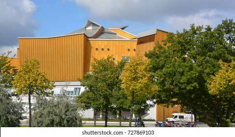 BERLIN GERMANY 09 20 17:  Berliner Philharmonie is a concert hall in Berlin, Germany. Home to the Berlin Philharmonic Orchestra, the building is acclaimed for both its acoustics and its architecture.