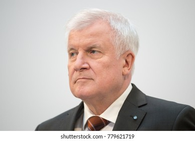 Berlin, Germany - 10-09-2017: Horst Seehofer, CSU, answers questions at  a press conference at the head quarter of the CDU