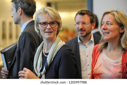 Berlin, Germany, 10-16-2018: The German Minister for Education, Anja Karliczek, takes part at the faction meeting of her party at the German Bundestag in Berlin