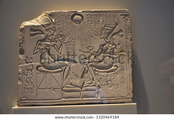 Berlin, Germany - 11.13.2016: Akhenaten, Nefertiti