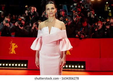 BERLIN, GERMANY: 16 February 2019: President of the International Jury Juliette Binoche arrives for the closing ceremony of the 69th Berlinale International Film Festival