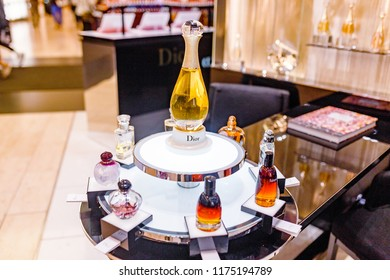BERLIN, GERMANY - 19 MAY 2018: Dior brand cosmetics store in KDW Mall