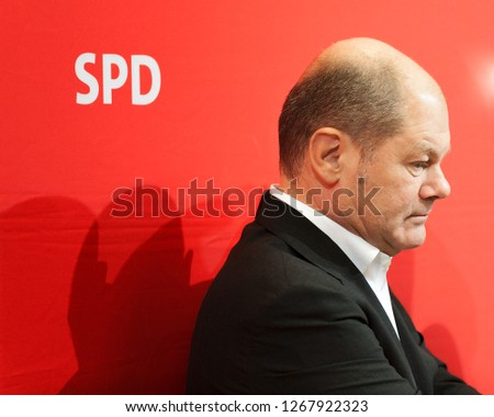 Berlin, Germany, 2016-02-22: Olaf Scholz from the Social Democrats takes part in the meeting at the party headquarter