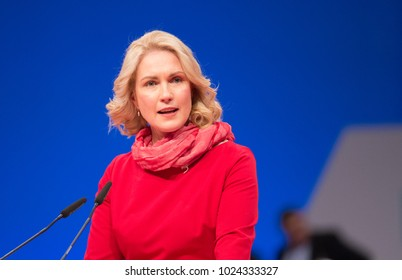 Berlin, Germany, 2017-12-07, German politician Manuela Schwesig, SPD, speaks at the party meeting