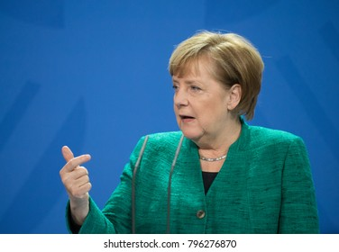 Berlin, Germany 2018-01-17 German Chancellor Angela Merkel at a press conference at the Federal German Chancellery