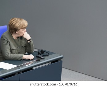 Berlin, Germany - 2018-01-22: Angela Merkel, German Chancellor at the German Bundestag