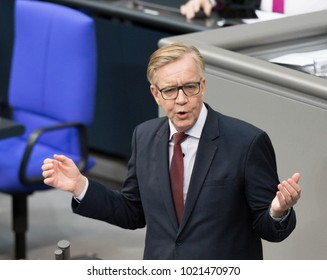 Berlin, Germany 2018-02-01: Dietmar Bartsch, politician from the left party (Die Linke) at hte German Bundestag