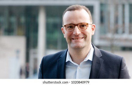 Berlin, Germany, 2018-02-07, German politician Jens Spahn, member of the CDU arrives at the headquarter of the conservative party in Berlin