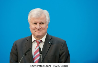 Berlin, Germany, 2018-02-07, German politician Horts Seehofer, member of the CSU, prime minister of Bavaria at the headquarters of the conservative party