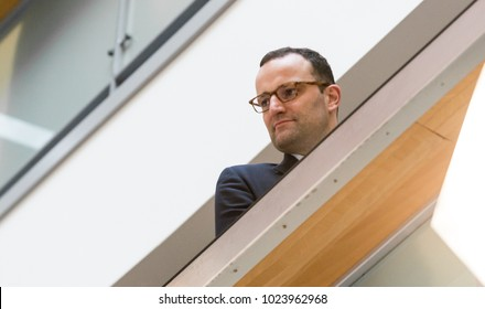 Berlin, Germany, 2018-02-07, German politician Jens Spahn, member of the CDU at the headquarter of the conservative party (press confernce)