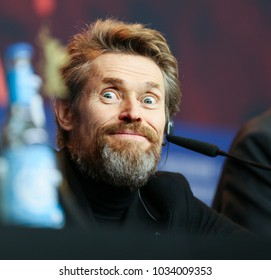 BERLIN, GERMANY - 2018/02/20: Hommage press conference with Willem Dafoe winner of an honorary Golden Bear at the Berlinale in 2018.