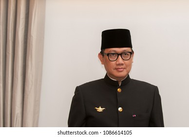 Berlin, Germany, 2018-05-08:  The new ambassedor of the Republic of Indonesia in Germany, Arif Havas Oegroseno pose for the photographers after having presented his credentials at  the bellevue palace