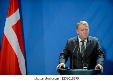 Berlin, Germany, 2018-11-20: Press statement of the Prime Minister of Denmark Lars Løkke Rasmussen at the German Chancellery