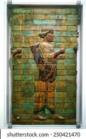 BERLIN, GERMANY 22 JANUARY 2015 The Pergamon Museum in Berlin, which houses monumental exhibits such as Babylon's Ishtar Gate and its colorful ceramic motifs, is undergoing renovations until 2020.