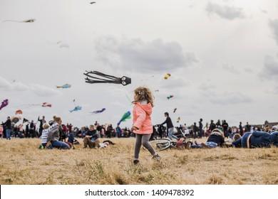 Berlin, Germany - 22.09.18 - Kite Festival