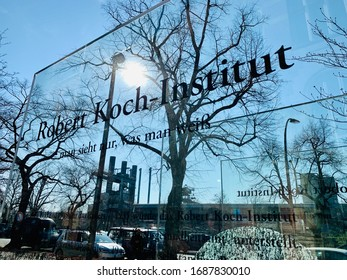Berlin, Germany - 24 March 2020: The entrance of the Robert Koch-Institut in Berlin.