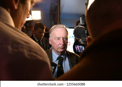 Berlin, Germany - 24 September 2017: Leader of the German political party Alternative for Germany (AfD) Alexander Gauland speaks to journlaists after 2017 German Elections