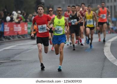 Berlin, Germany 24 September 2017 - Action from the Berlin Marathon road running event